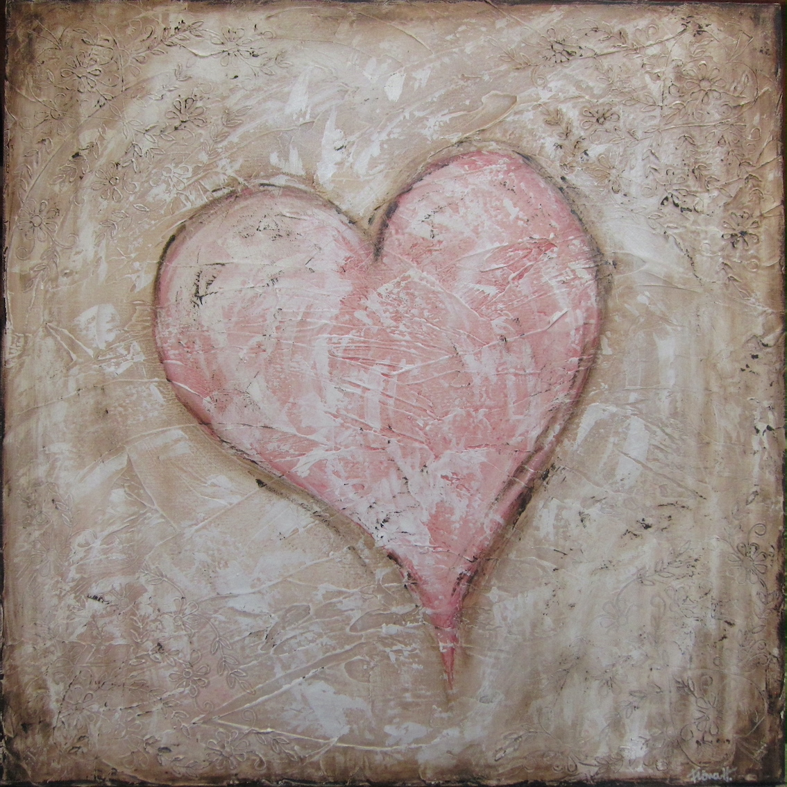 textured heart