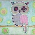 owl collage 40x30cm $55